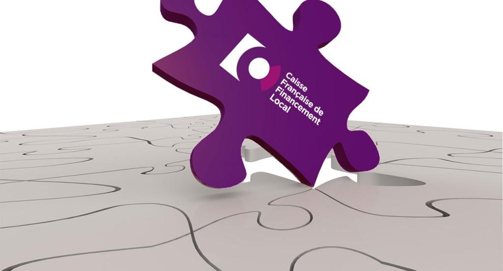 Logo sur une pièce de puzzle
